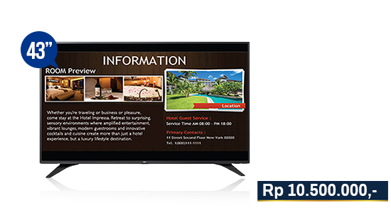 jual digital signage display solution lg 43lw540s