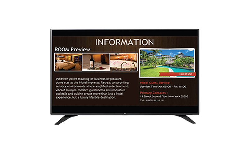 lg 43lw540s digital signage display solution