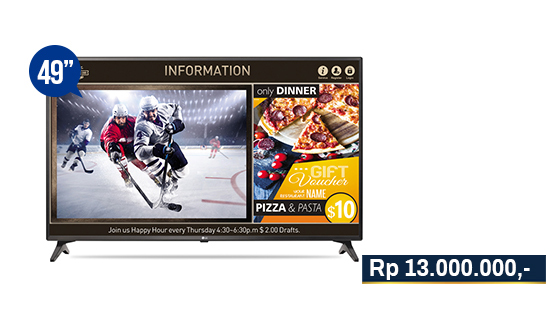 jual smart tv signage lg 49lv640s