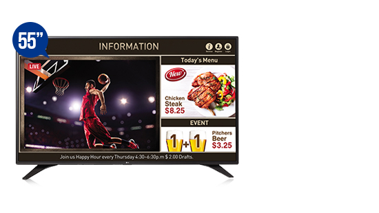 jual smart tv signage lg 55lv640s