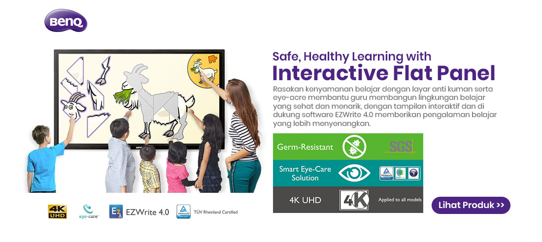 benq interactive flat panel for education