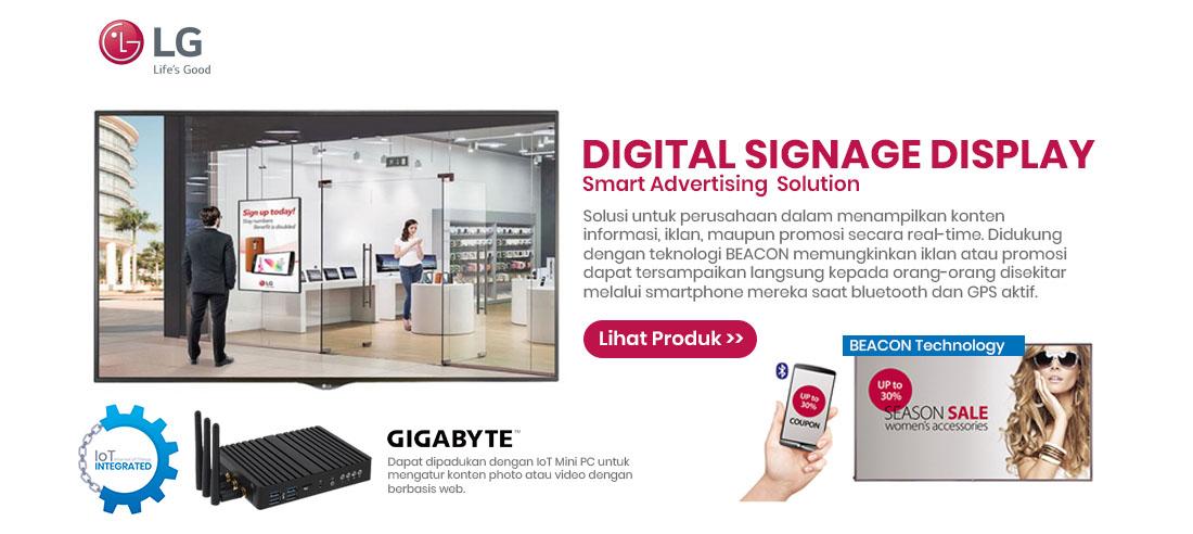 lg digital signage with gigabyte iot mini pc