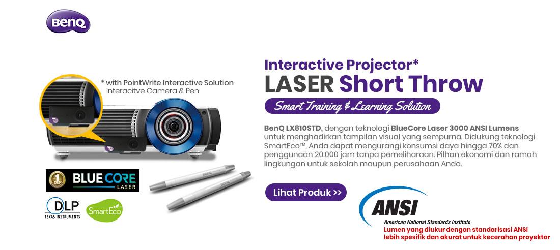 benq interactive projector short throw lx810std