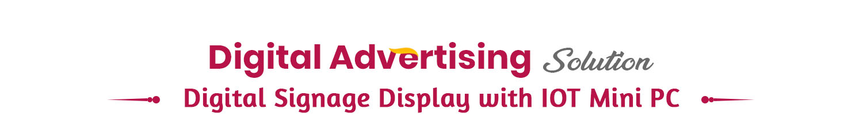 digital signage display with iot mini pc tab