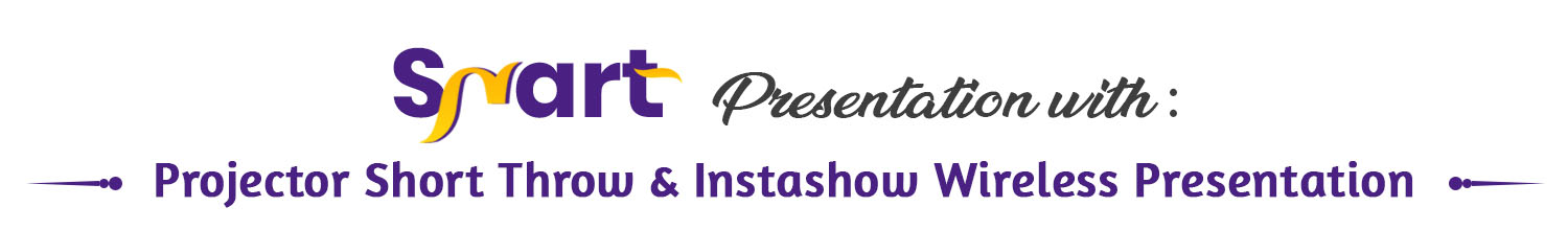interactive projector short throw & instashow wireless presentation