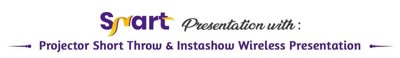 interactive projector short throw & instashow wireless presentation