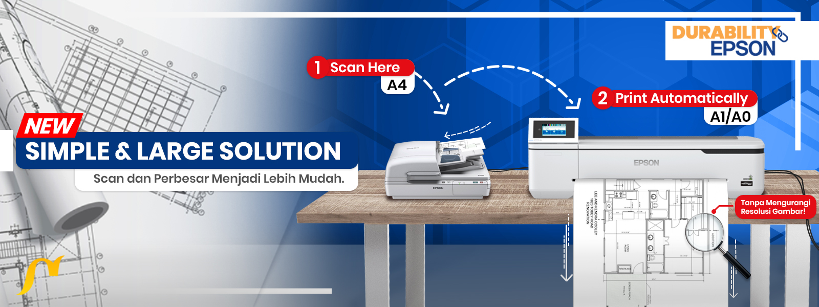 epson technical printer with scanner slider