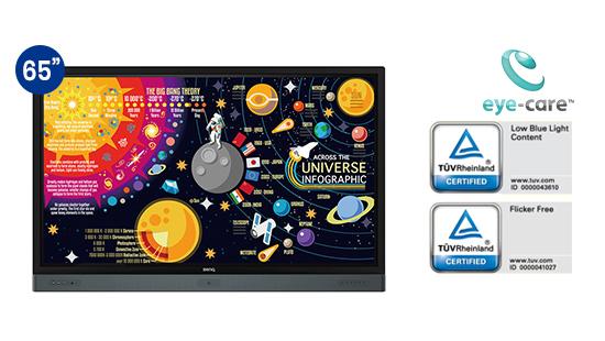 jual benq interactive flat panel rp6501k