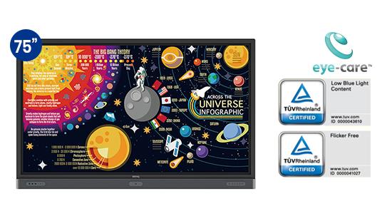 jual benq interactive flat panel rp7501k