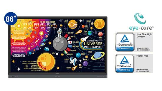 jual benq interactive flat panel rp8601k