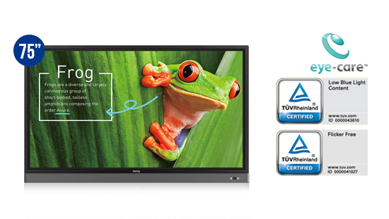 jual benq interactive flat panel rm7501k