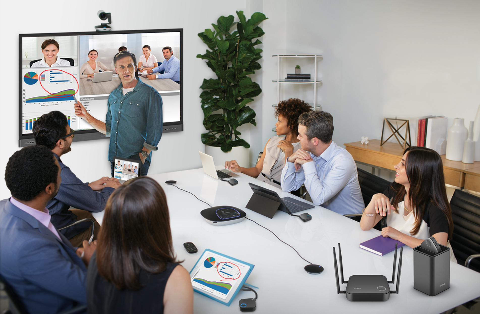 interactive video conference