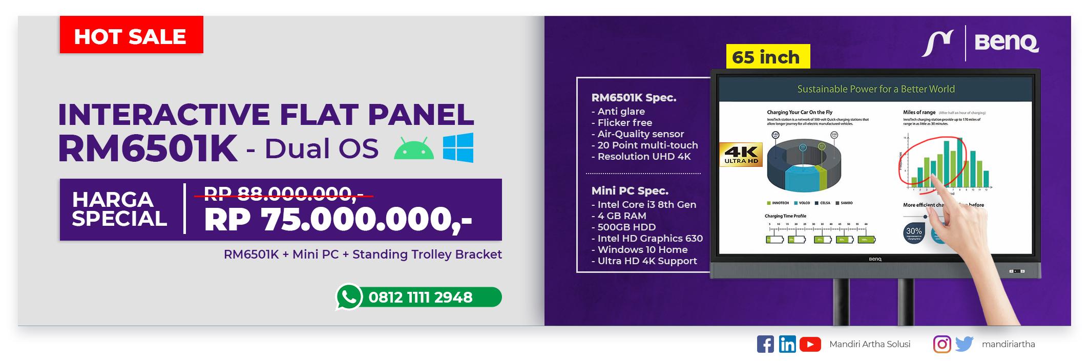 Promo BENQ RM6501K - April 2020