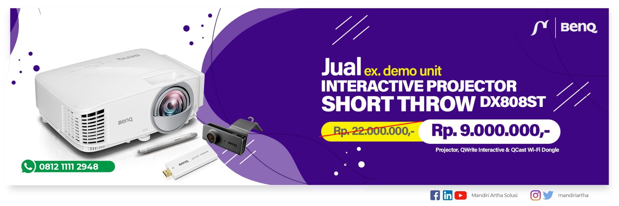 jual interactive projector benq dx808st