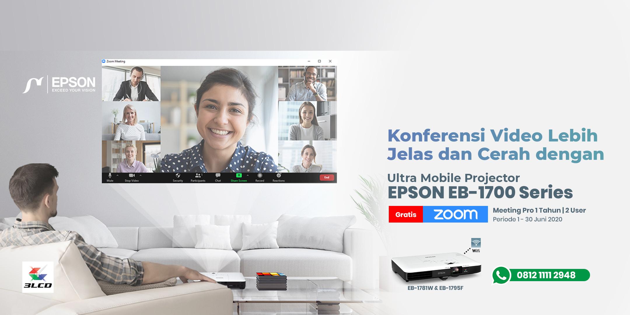 Promo Epson EB-1700 Series gratis Zoom