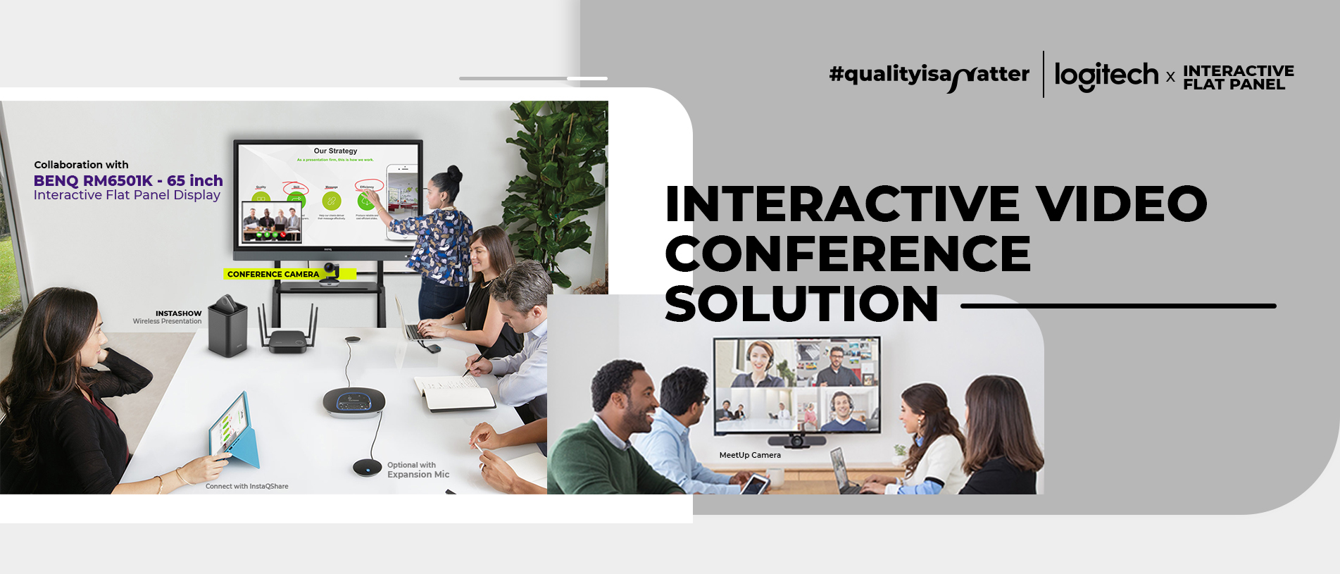 interactive video conference solution slider