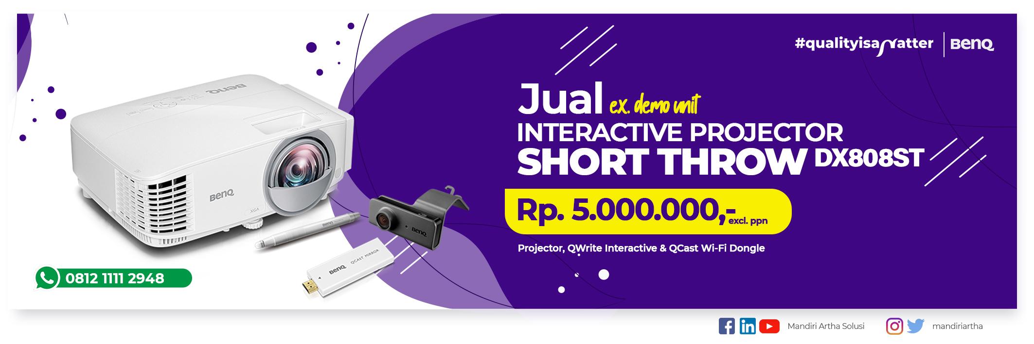 Jual Projector Short Throw DX808ST - Desember 2020
