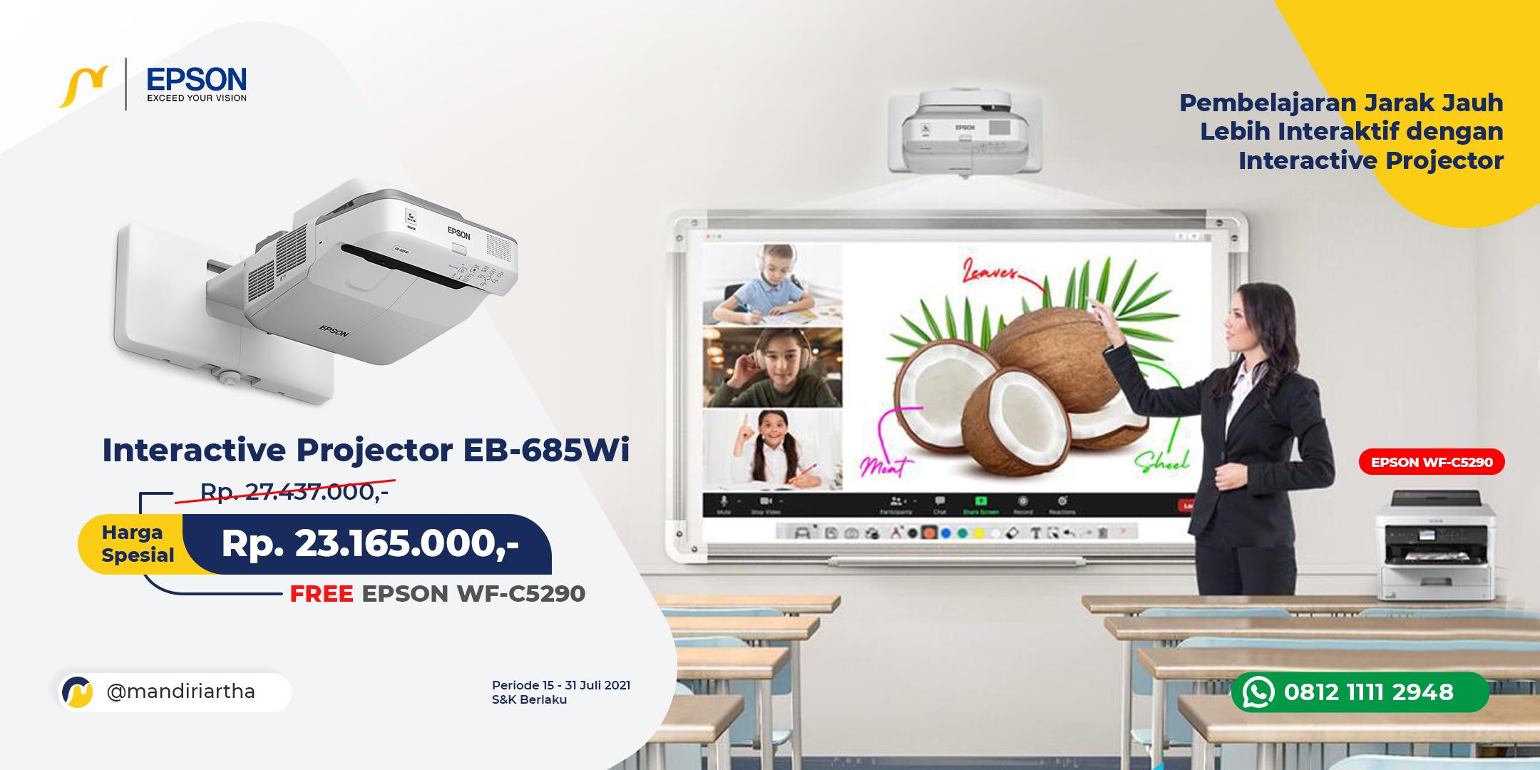 Promo Juli - Interactive Projector EB-685Wi