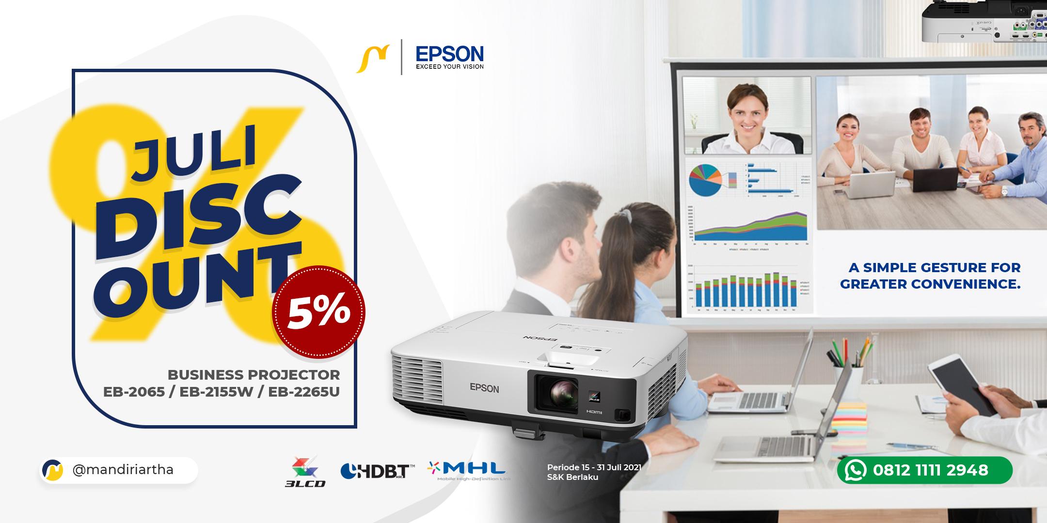 Promo Juli - Projector EB-2000 Series Diskon 5%